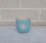 Kopp, gjord i keramik, blå