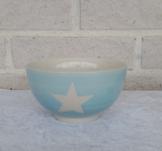 Skål, gjord i keramik, blå