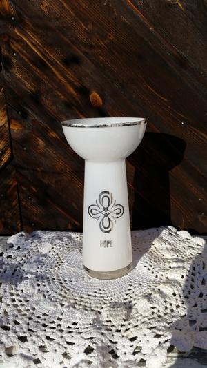 Symbolvaser, hope, vit/silver, 7x11x20cm, majas lyktor
