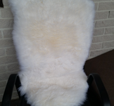 Fårskinnsfäll, vit, 61x90-99cm